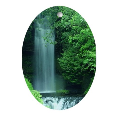 Waterfalls Oval Ornament