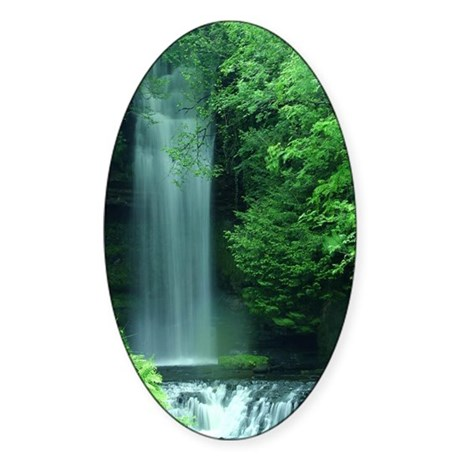Waterfalls Oval Sticker
