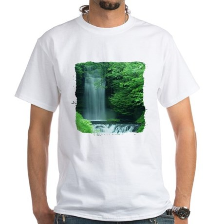 Waterfalls White T-Shirt