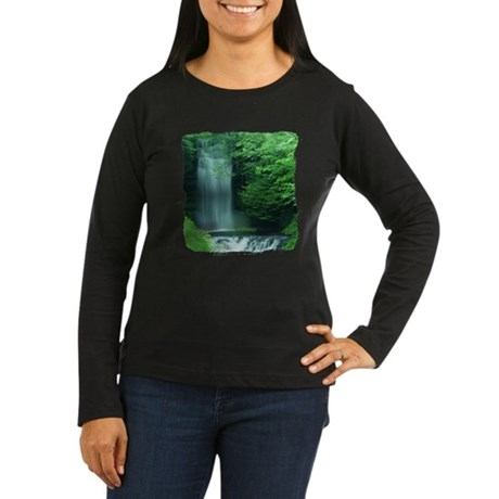 Waterfalls Women's Long Sleeve Dark T-Shirt