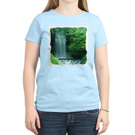 Waterfalls Women's Pink T-Shirt