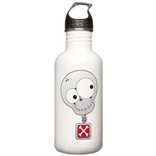 silly bobble skull Water Bottle