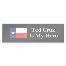Ted Cruz is my hero dark bump Bumper Bumper Sticker