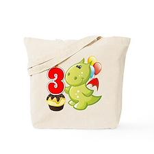 3rd Birthday Dragon Tote Bag