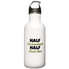 Half Archaeologist Half Rock Star Water Bottle