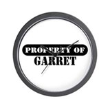Property of Garret Wall Clock