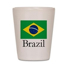 Brazil Flag Shot Glass