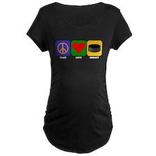 Peace Love Hockey Maternity T-Shirt