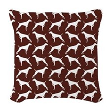 Cushion - Vizsla Print - Chocolate