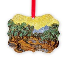 Van Gogh - Olive Trees with Yello Ornament