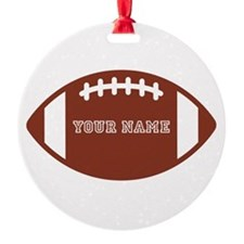 Custom name Football Round Ornament