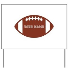 Custom name Football Yard Sign