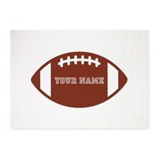 Custom name Football 5'x7'Area Rug