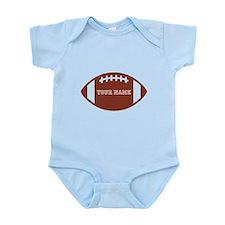 Custom name Football Infant Bodysuit