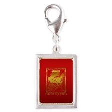 Year of The Horse Abstract Silver Portrait Charm