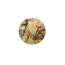 vintage Bicycle fashion art Mini Button