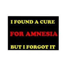 CURE FOR AMNESIA Rectangle Magnet