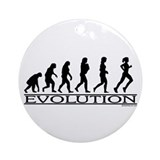 Evolution (Female Running) Ornament (Round)