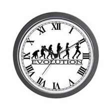 Evolution (Female Running) Wall Clock