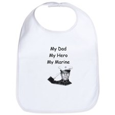 Unique My dad is my hero Bib