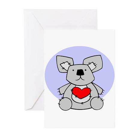 Koala Bear Heart Greeting Cards (Pk of 10)