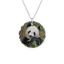 Panda Necklace Circle Charm