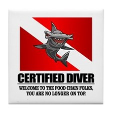Certified Diver (Food Chain) Tile Coaster