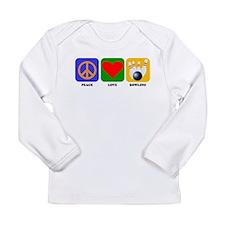 Peace Love Bowling Long Sleeve T-Shirt