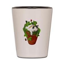 Flowerpot Cat Shot Glass