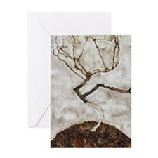 Small Tree in Late Autumn by Egon Sc Greeting Card