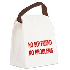 NO BOYFRIEND NO PROBLEMS Canvas Lunch Bag