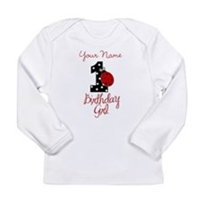 1 Ladybug Birthday Girl - Your Name Long Sleeve T-