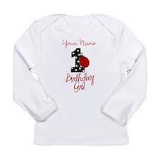 1 Ladybug Birthday Girl - Your Name Long Sleeve T-