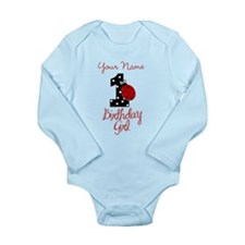 1 Ladybug Birthday Girl - Your Name Body Suit