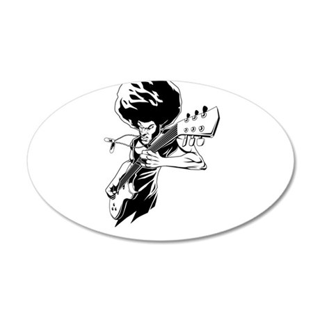 Afro rock guitarist Wall Decal