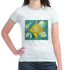 Green and Yellow Sea Shells T-Shirt
