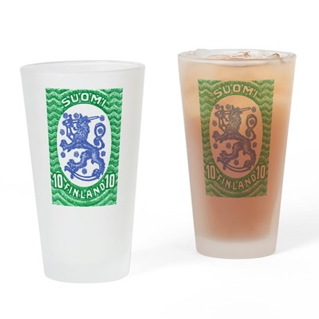 1917 Finland Lion Coat of Arms Postage Stamp Drink
