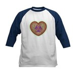 Biohazard Heart Kids Baseball Jersey