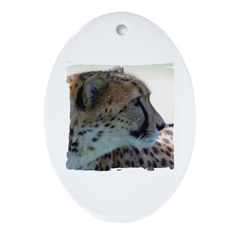 Cheeta Oval Ornament