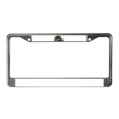 Cheeta License Plate Frame