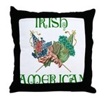 Irish American Unity Throw Pillow