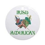 Irish American Unity Ornament (Round)