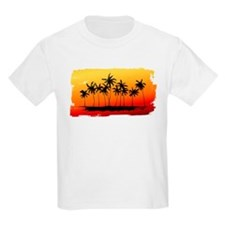 Palm Shadows at Sunset T-Shirt