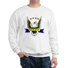 Navy Old School Eagle Sweatshirt