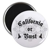 California or Bust Magnet