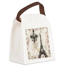 vintage paris eiffel tower chande Canvas Lunch Bag