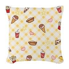 Fast Food Woven Throw Pillow