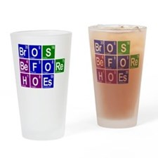 Chemistry Bros Before Hoes Drinking Glass
