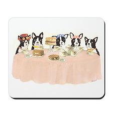 Boston Terrier Tea Party Mousepad