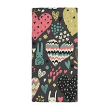 Bunnies and Hearts Beach Towel